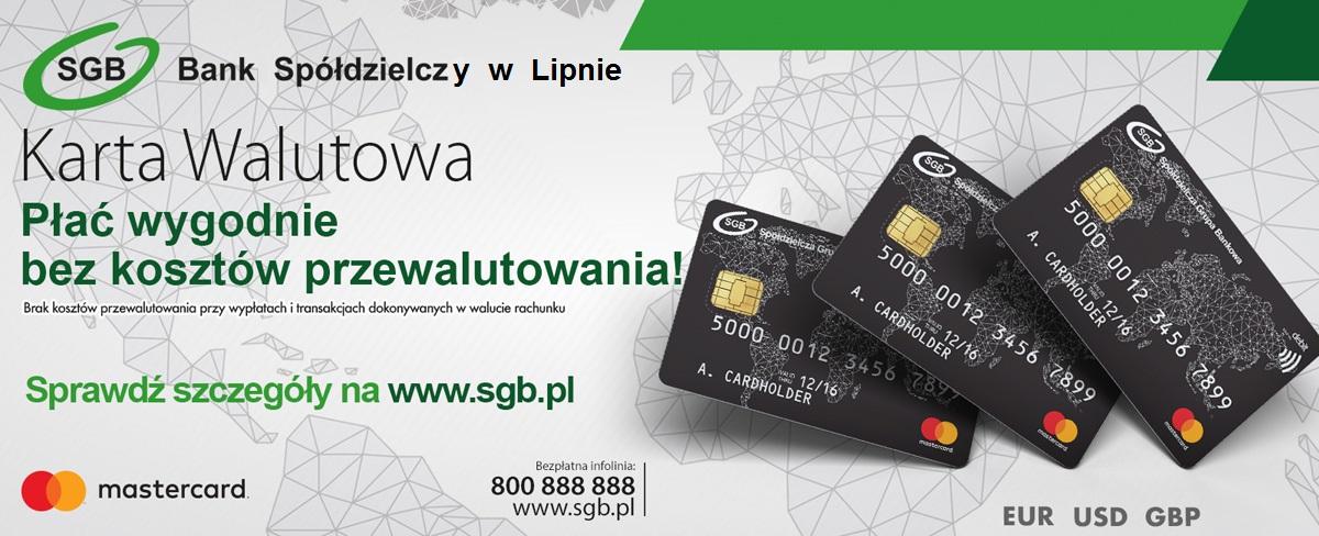 Karta Walutowa Mastercard Bank Spoldzielczy W Lipnie