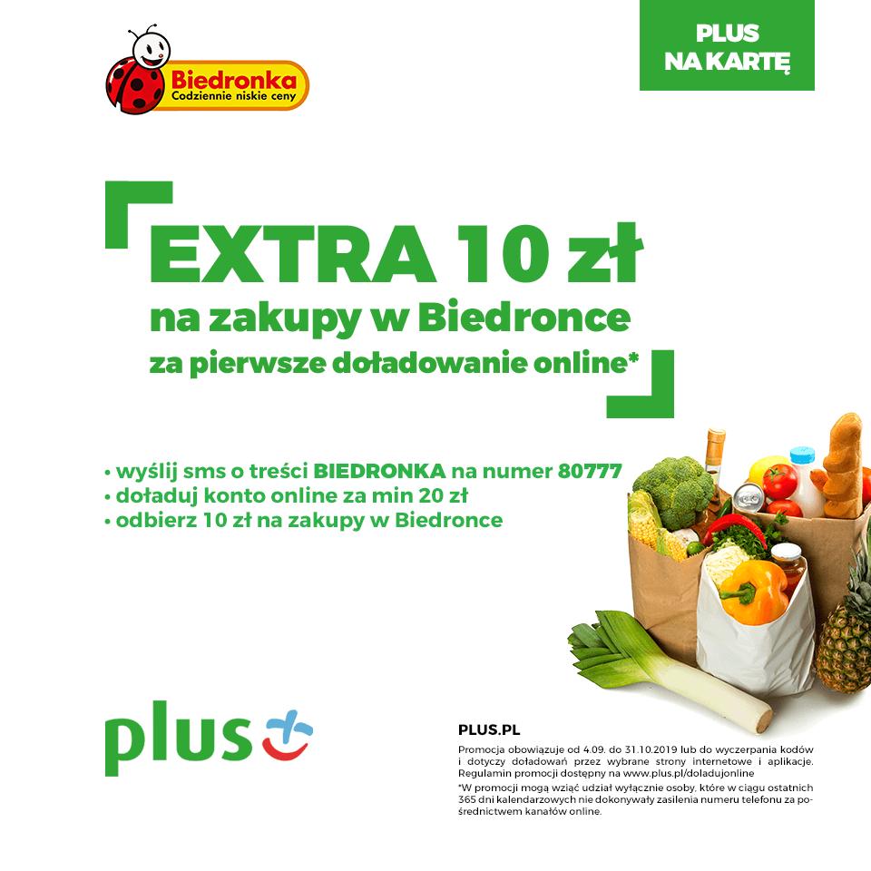 Extra 10 zł na zakupy w Biedronce
